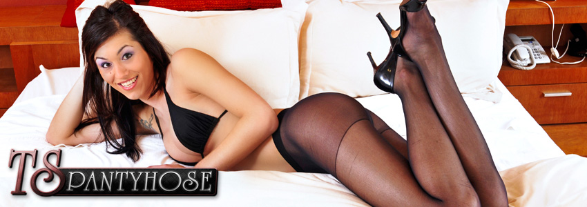 TS Pantyhose - Watch The Sexiest Pantyhose Clad Shemales In Action!